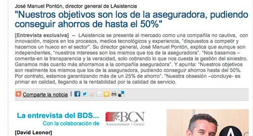 Entrevista exclusiva en INESE de Jose Manuel Pontón, Director General de Lasistencia