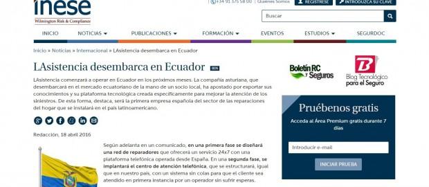 LAsistencia desembarca en Ecuador